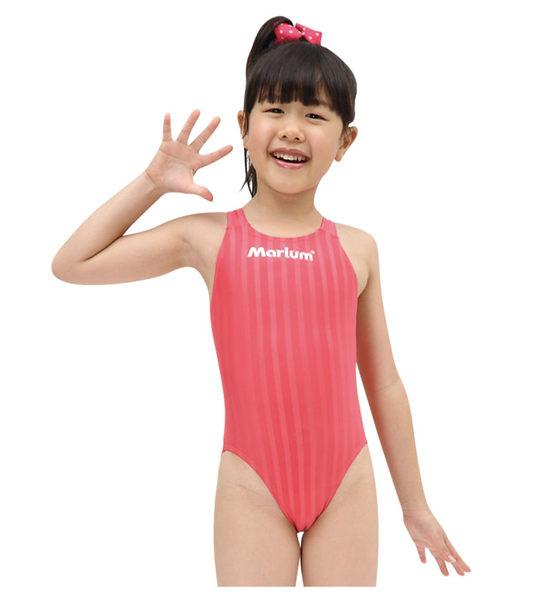 MARIUM小女競賽型泳裝桃紅MAR-8003WJ