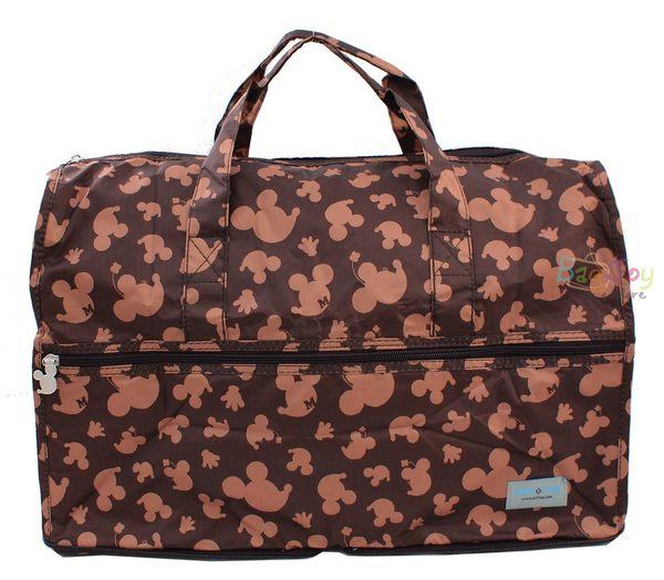 HAPI TAS摺疊小旅行袋迪士尼咖啡米奇H0002-MK16