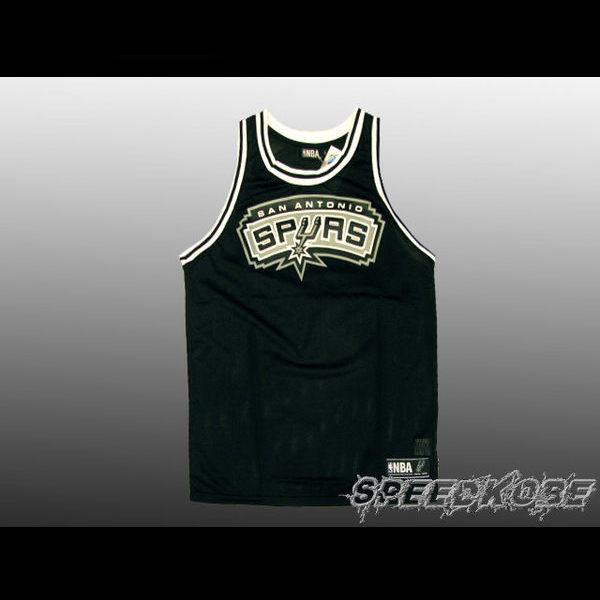 NBA復古-大LOGO球衣馬刺隊-黑色網狀透氣材質GEROGE創信8332801-020 speedkobe