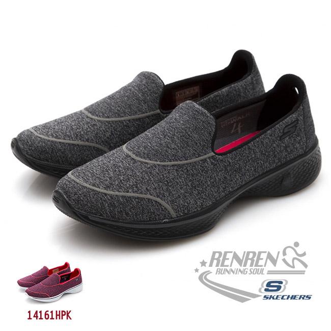 SKECHERS女運動鞋GO Walk 4黑避震緩衝款懶人鞋14161BBK胖媛的店