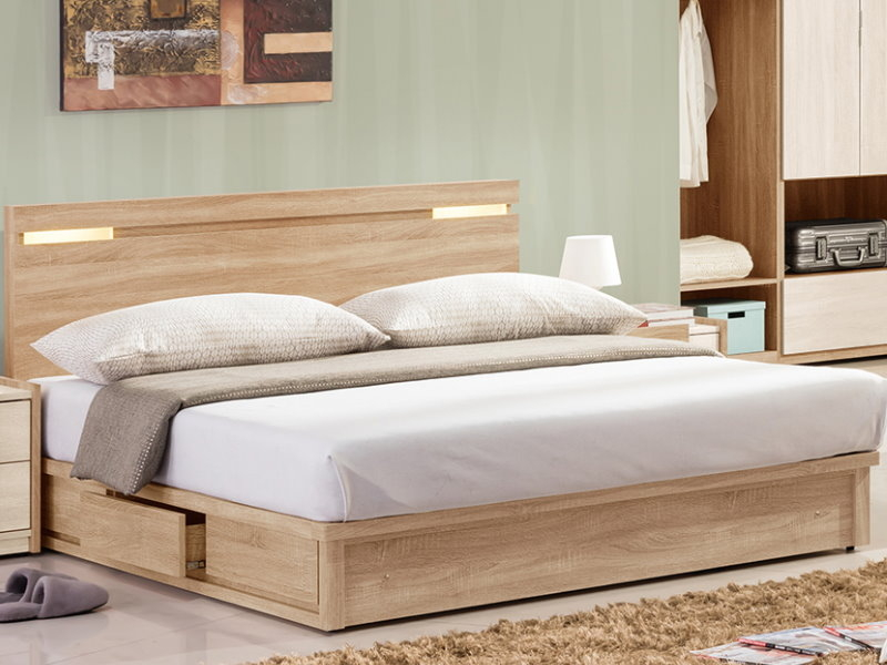 床架QW-323-4A多莉絲5尺尺雙人床床頭床底不含床墊大眾家居舘