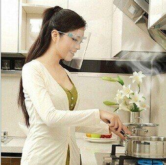 生活家精品Z25廚房炒菜防油濺面罩防霧防油煙面罩做飯防護面具眼鏡面罩面屏