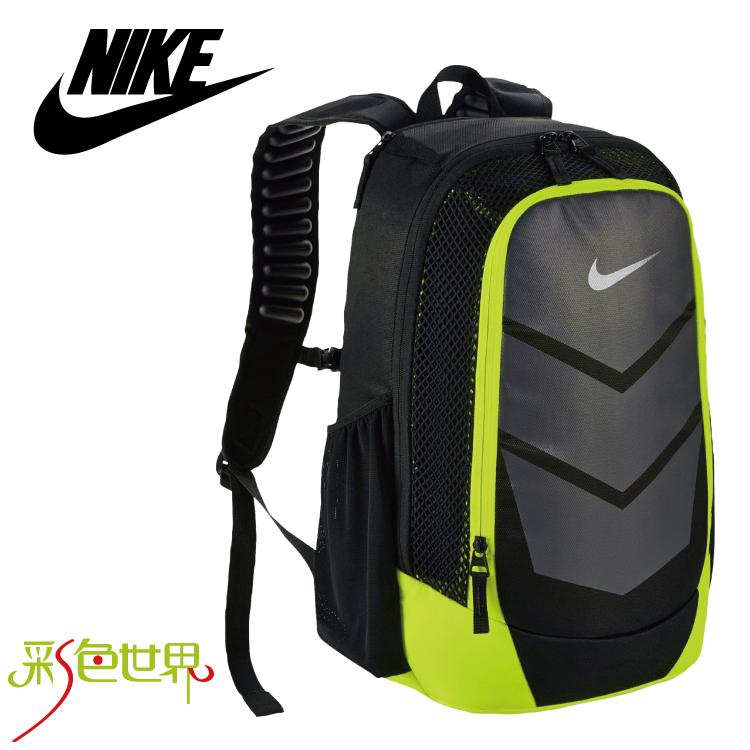 NIKE後背包包大容量筆電包韓版帆布包防潑水學生書包彩色世界5247-010