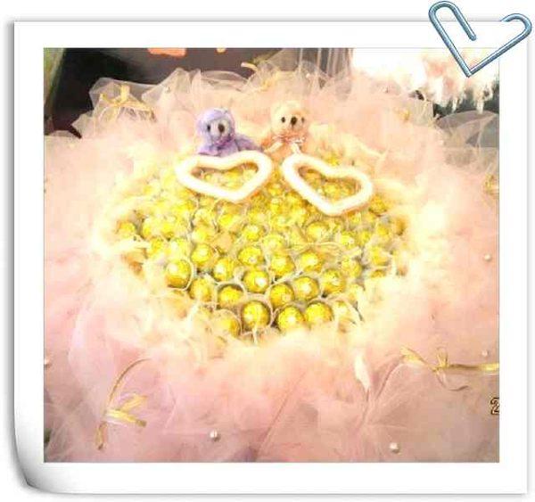 (WA-01)新北市永和花店情意花坊超級商城99朵金莎花束甜蜜蜜超低價2999元 贈小熊二支