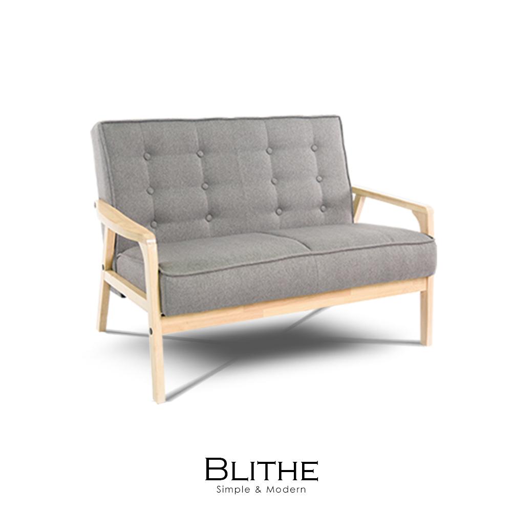 沙發 雙人沙發 Blithe雙人灰岩立方布沙發(LS/CAD-005-20雙人灰岩布沙發)【obis】時尚家居