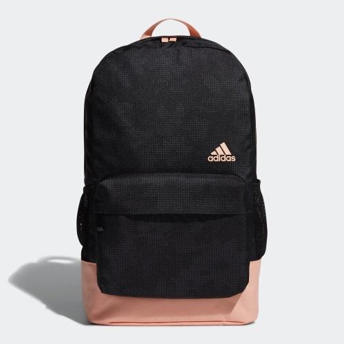 ★現貨在庫★ Adidas CL W AOP 背包 後背包 休閒 筆電 黑 粉【運動世界】EE1087