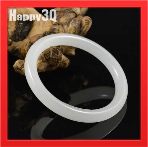 時尚送禮手工打磨雕琢天然阿富汗白玉細條圓條羊脂玉玉環手鐲【AAA1050】預購