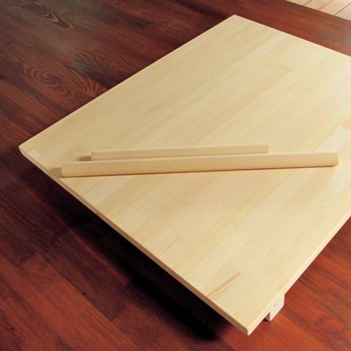 【木樂館】原木擀麵板&擀麵棍組│阿拉斯加扁柏黃檜│砧板擺盤廚具