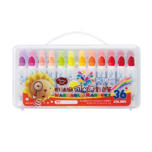 雄獅奶油獅可水洗彩色筆36色組