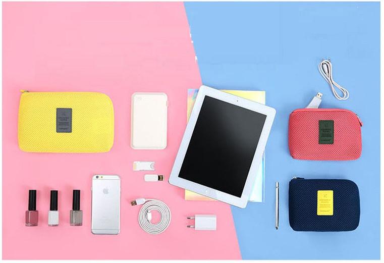 韓 防震包 旅行 收納包 化妝包 手拿包 手機包 3C收納 充電器 數據線 收納 小號