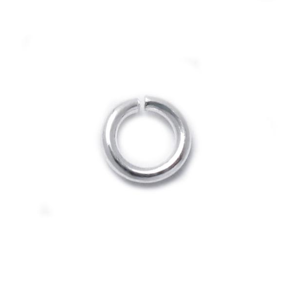 925純銀配件-5.0mm開口圈/C圈/跳環-25個