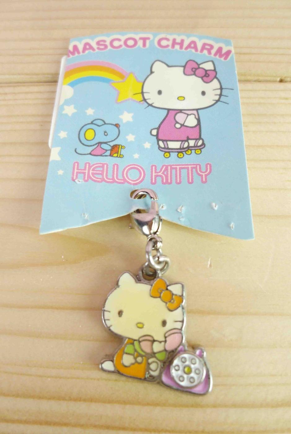 【震撼精品百貨】Hello Kitty 凱蒂貓~KITTY吊飾拉扣-聖誕系列-電話