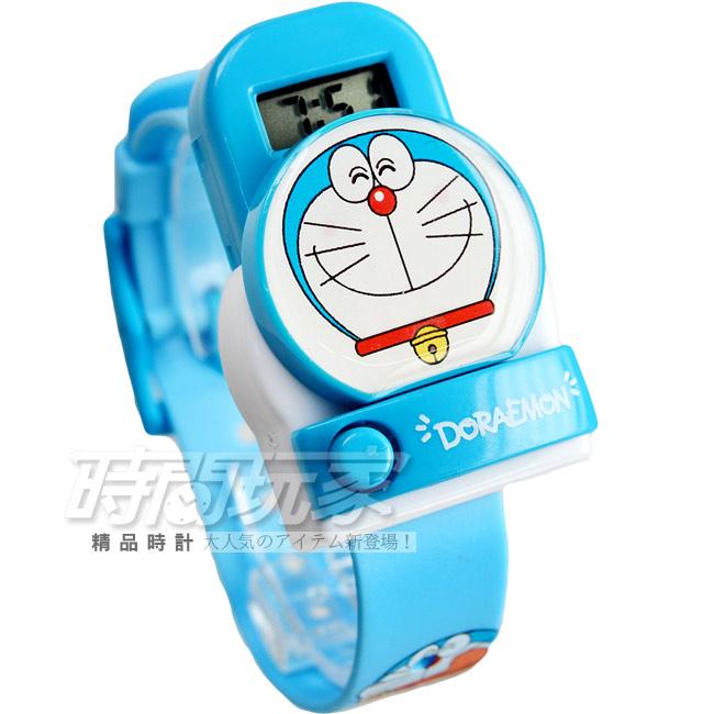 DORAEMON哆啦A夢按鈕彈跳設計腕錶童錶AI-930201笑臉多拉a夢防水手錶兒童手錶學生錶皆適合佩戴