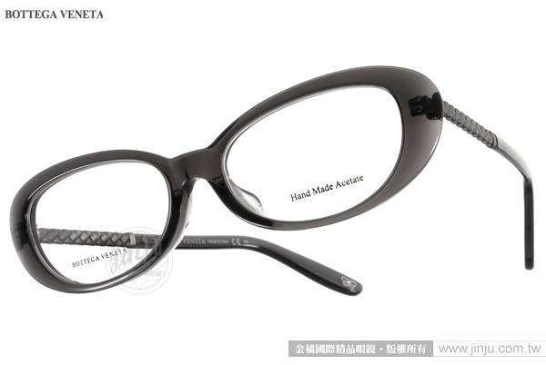 BOTTEGA VENETA光學眼鏡BV6033F 8FB透黑極致高貴典雅女款金橘眼鏡