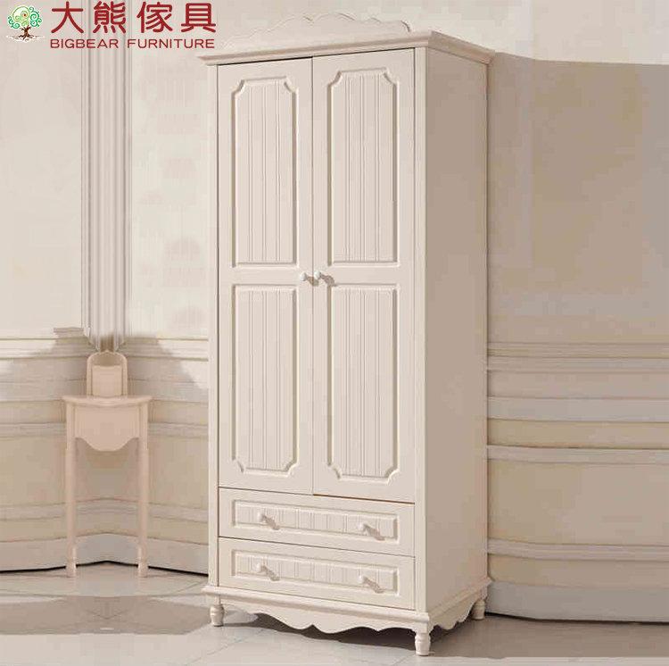 【大熊傢俱】杏之韓 YG803 韓式兩門衣櫃 儲物櫃 兩門帶抽衣櫃  開門衣櫃 法式 衣櫃 鄉村田園風