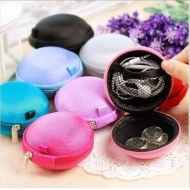 [只有今天 下殺1元] 日本流行 圓球 零錢包 帆布 收納包 耳機 收納 硬幣包 鑰匙包 零錢包 -顏色隨機