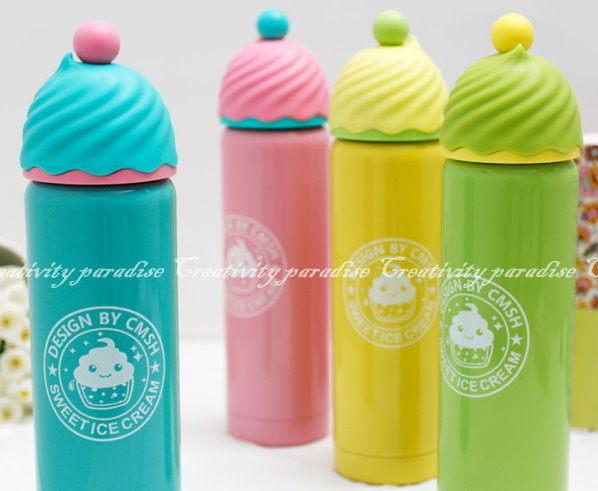 冰淇淋保溫杯200ml 304不銹鋼雙層真空保溫壺ICE CREAM造型不鏽鋼保溫瓶