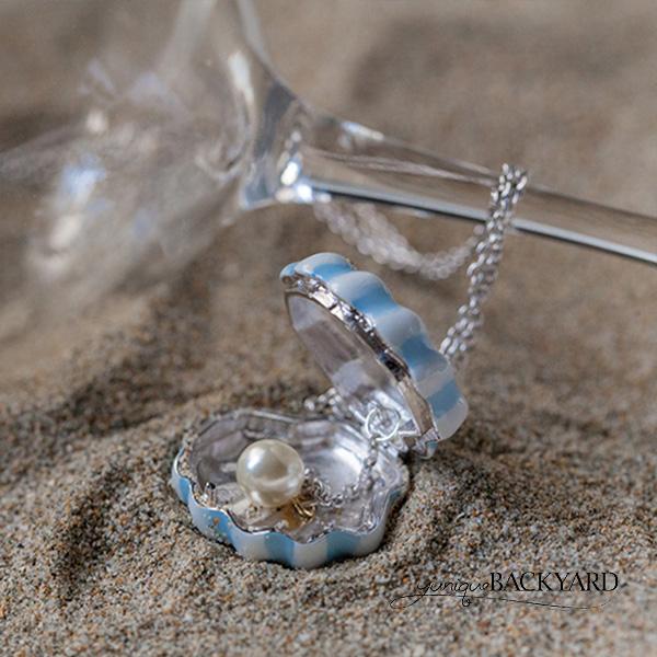 yunique Backyard大珍珠貝殼項鍊