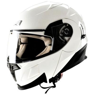 中壢安信法國ASTONE RT1000素色白全罩式可掀式安全帽可樂帽內置墨片下巴可掀