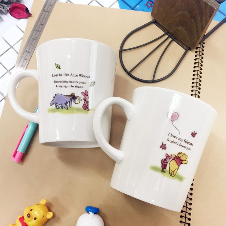PGS7日本迪士尼系列商品日本迪士尼維尼溫馨馬克杯水杯茶杯陶瓷杯小熊維尼SEJ6844