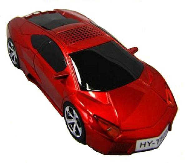 捷盟國際音樂石T508跑車模型迷你隨身音響:FM收音機MP3音箱高音質喇叭