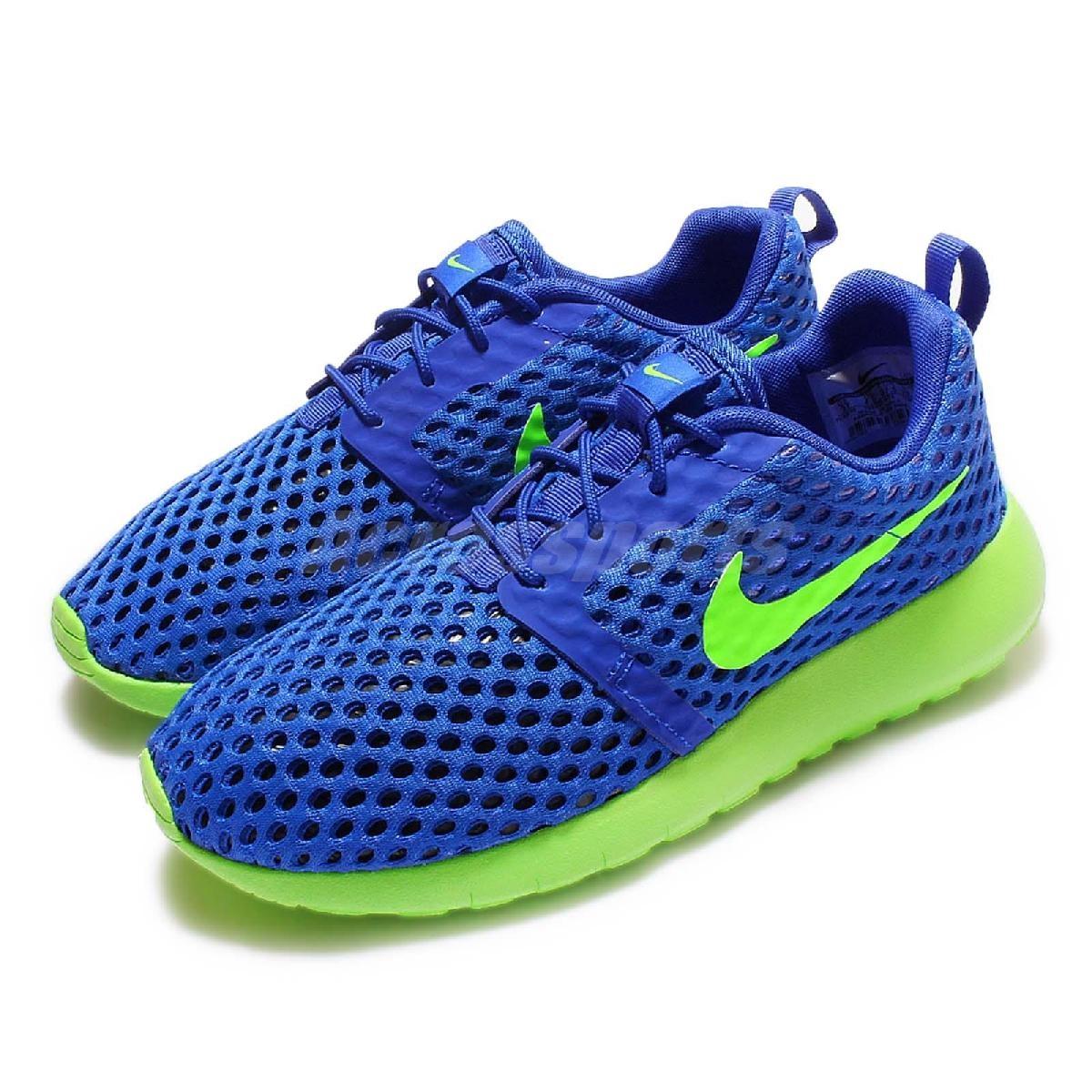 Nike休閒慢跑鞋Roshe One Flight Weight GS藍綠運動鞋女鞋大童鞋PUMP306 705485-404