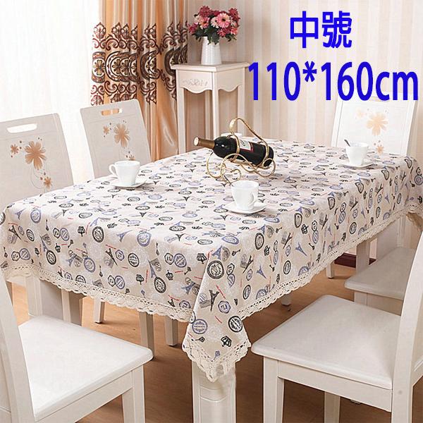 BO雜貨SV9568歐式田園布藝蕾絲花邊餐桌布純棉麻蕾絲花邊餐桌布茶几布110*160cm