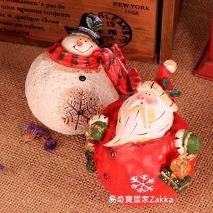 【易奇寶】聖誕節工藝擺件飾品二件套