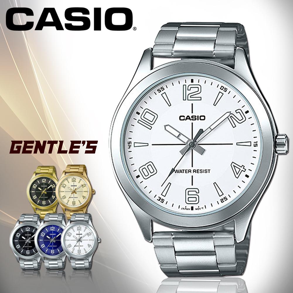 CASIO手錶專賣店CASIO手錶MTP-VX01D-7B男錶指針錶不鏽鋼錶帶防水礦物玻璃