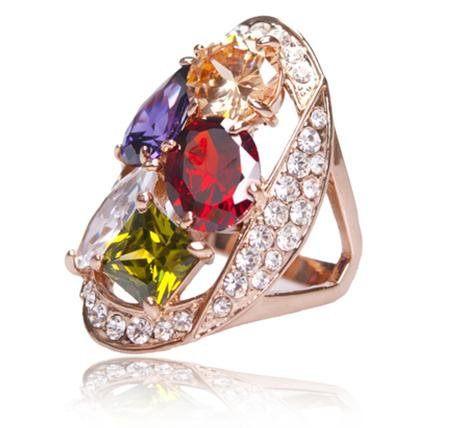 寬戒指潮人女指環誇張食指戒指 鑽戒鑲鑽鑽石首飾水晶飾品