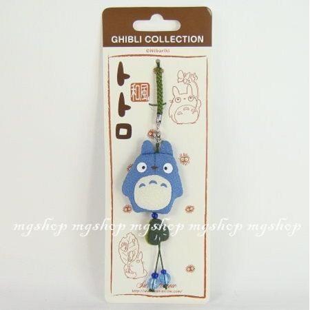 日本原裝宮崎駿龍貓TOTORO和風款吊飾深藍色水藍色