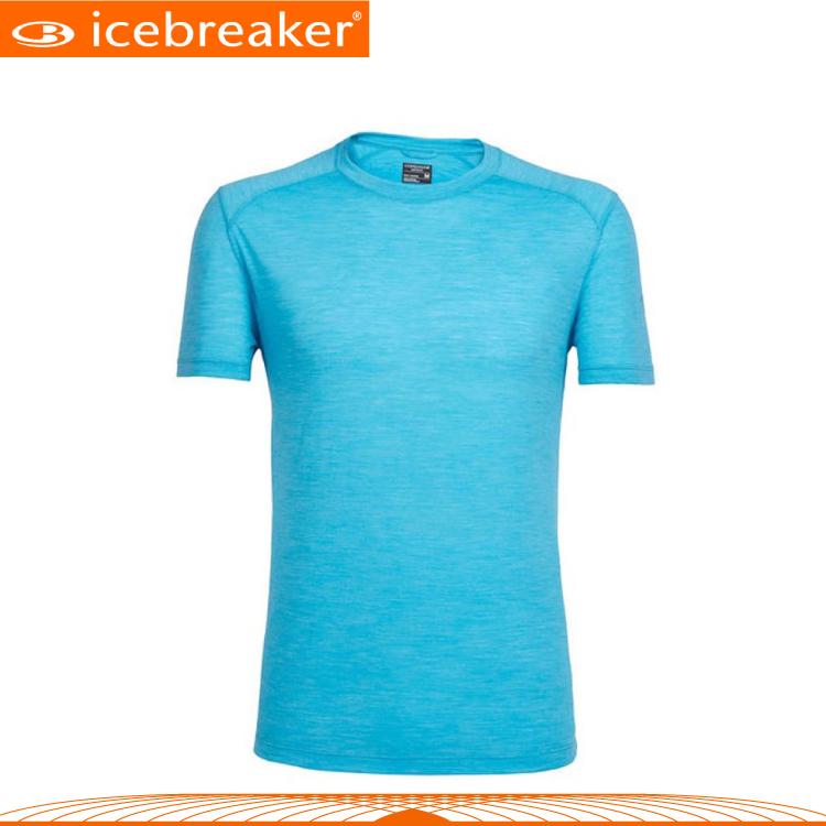 【Icebreaker 男 COOL-LITE圓領短袖上衣JN130《淡海藍》】103608/快乾機能服/透氣衫/運動
