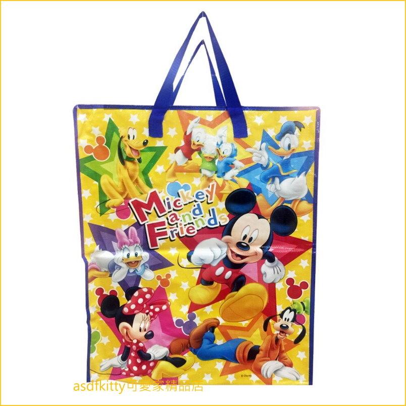 迪士尼家族購物袋-大-米奇米妮唐老鴨收納袋輕量肩背包-幼兒園午睡棉被睡袋-日本正版