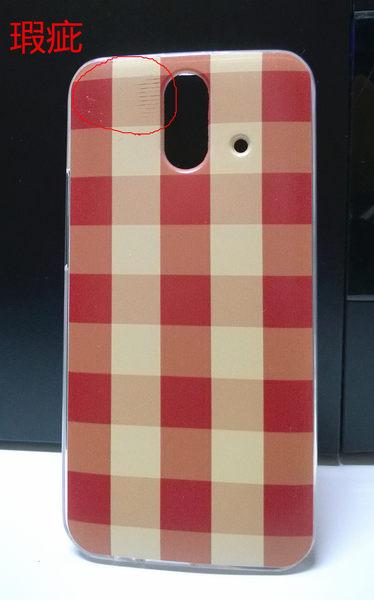 ♥ 俏魔女美人館 ♥ 瑕疵屋 {軟殼*紅格} 現貨 HTC One E8 手機殼 手機套 保護殼