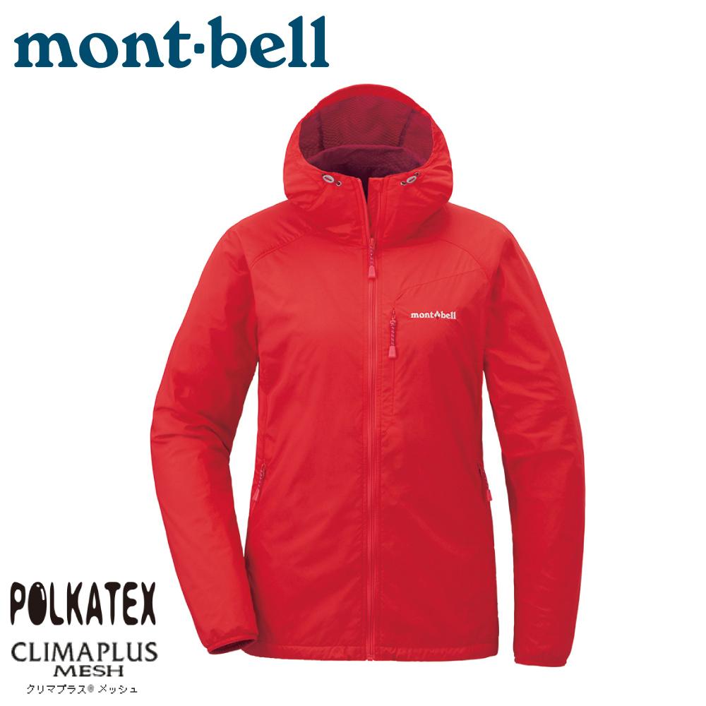 【Mont-Bell 日本 女  Light Shell Parka 連帽風衣《茄紅》】1106646/速乾外套/防風夾克