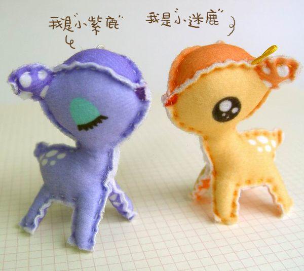 ☆猴子設計☆ 小迷鹿布偶明信片-明信片可以DIY成一個可愛布偶-可加購材料包