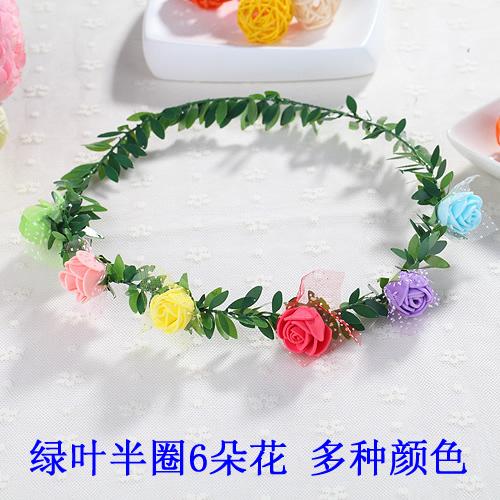森女花環材料頭飾手工海邊旅遊景區地攤頭戴兒童公主13朵花朵─預購CH1647