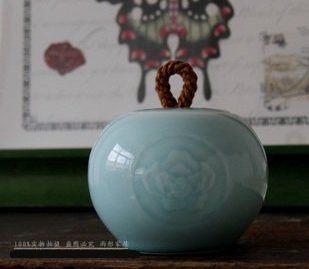 戀荷花瓷罐陶瓷茶具茶葉罐
