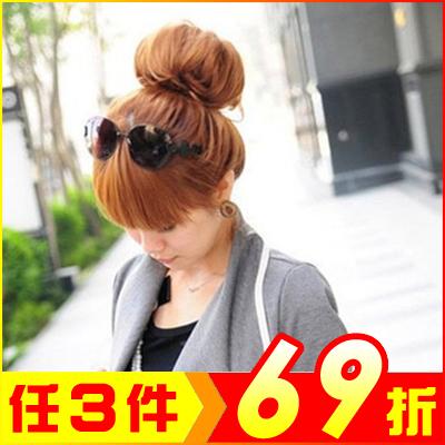 可愛甜甜圈美髮盤髮造型 荷包頭【AG05049】大創意生活百貨