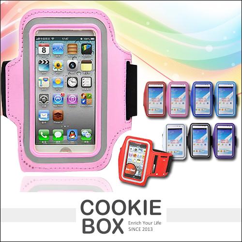 運動手臂套手機收納包IPHONE 5 4 6 6plus S3 S4 S5 HTC M7蝴蝶機S Note 2 3紅米不挑色*餅乾盒子