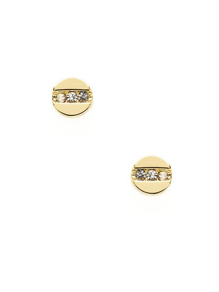 Ava Aiden耳環圓形圖案金屬耳環