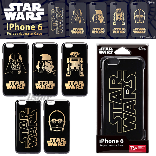 iPhone 6 6s手機殼星際大戰正版授權金箔硬殼4.7吋Starwars-突擊兵R2D2 C-3PO