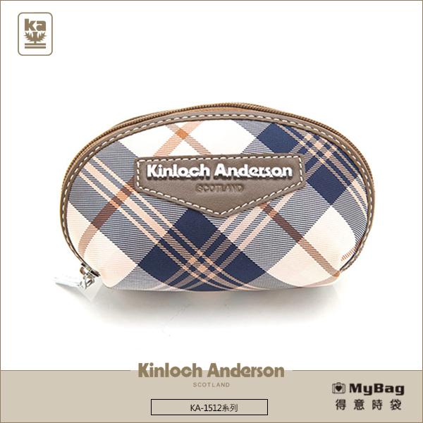 Kinloch Anderson金安德森皮夾零錢包KA151211咖啡經典格紋布女夾MyBag得意時袋