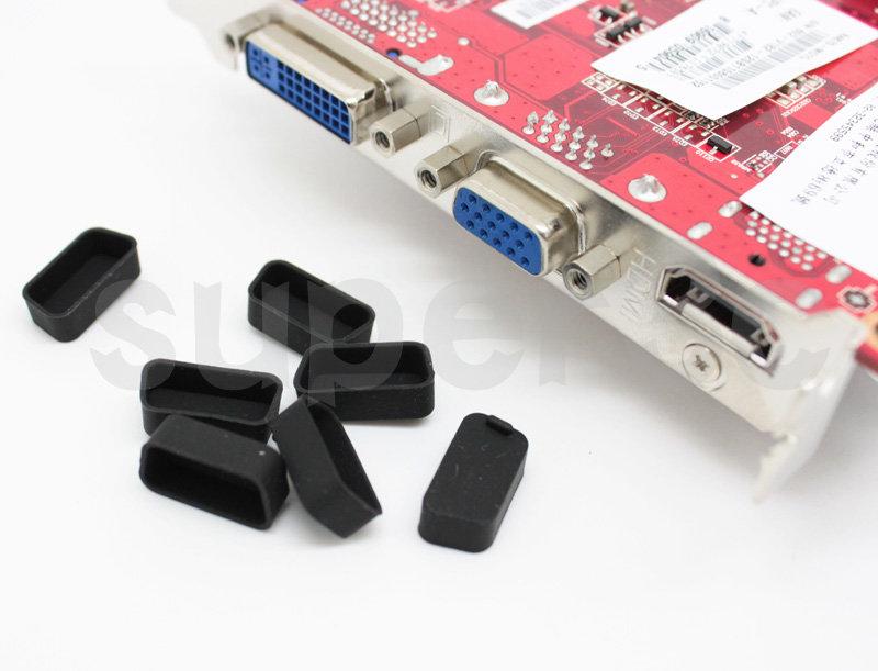 新竹【超人3C】VGA 母座 顯示卡 筆電 投影機 電視 矽膠 防塵蓋 超柔軟 抗氧化 保護塞  黑色