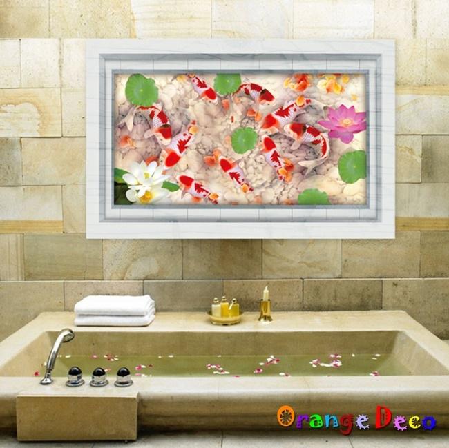 壁貼橘果設計蓮花池DIY組合壁貼牆貼壁紙壁貼室內設計裝潢