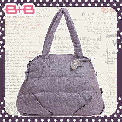 時尚純靜媽媽包-紫尿布墊保溫袋大空間肩揹側背媽咪包HAPPY B B E-B-95158-P