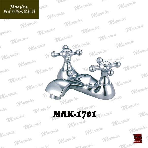 水龍頭水電DIY古典雙十字面盆龍頭MLK-1701品味北歐風台灣製造