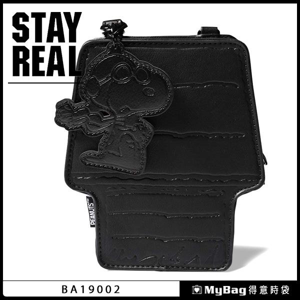 STAYREAL 側背包 CB x Snoopy 史努比 小屋包 休閒小包 黑色 BA19002 得意時袋