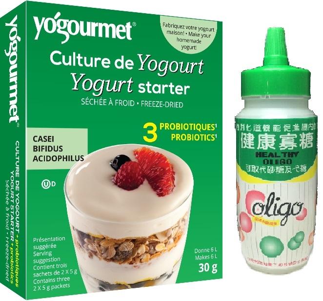 加拿大原裝30gCBA優格菌粉DIY優酪乳優格自製優格優酪乳綠太陽健康寡糖500g