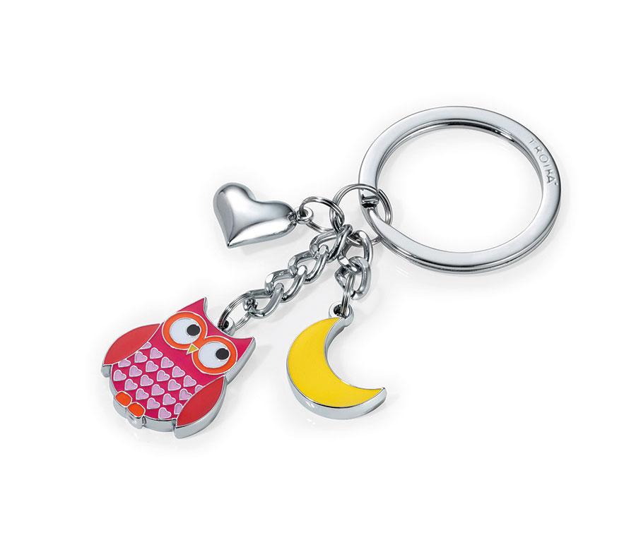 WIZ微禮TROIKA鑰匙圈-貓頭鷹月亮造型